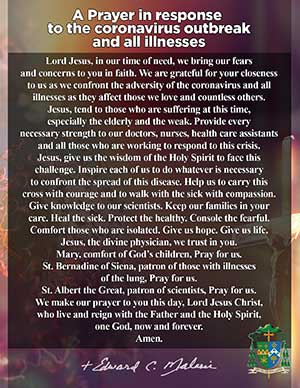 Bishop Malesic's Prayer Card