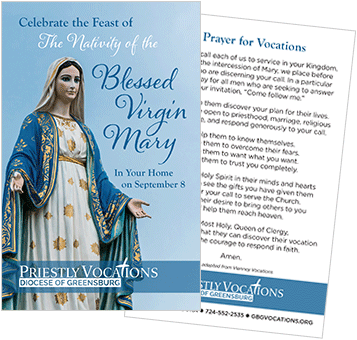 Vocations prayer card